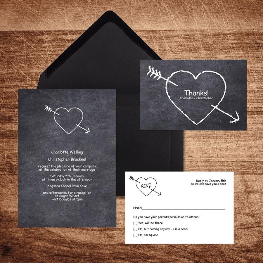 Diy Chalkboard Wedding Invitations: Diy Wedding Invitation Template Chalkboard Printable