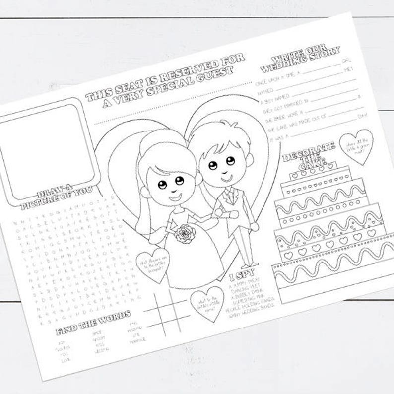 graphic relating to My Plate Printable Placemat identify printable small children wedding day recreation placemat childrens reception coloring colouring website page video game sheet fast down load children Space atmosphere