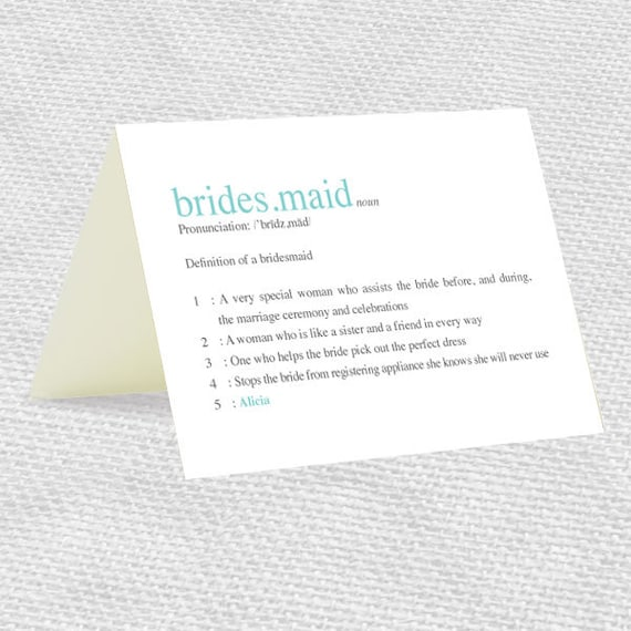 be my bridesmaid dictionary definition card customisable personalised diy template bridesmaid card download turquoise printable editable