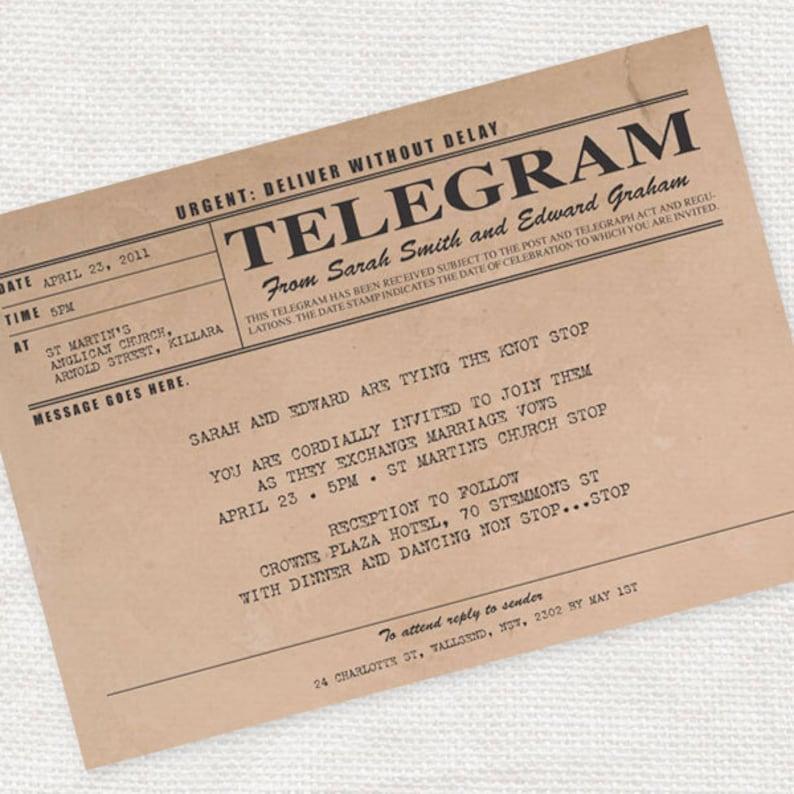 Printable Wedding Invitation Digital File Antique Rustic 1920s 1930s Milestone Birthday