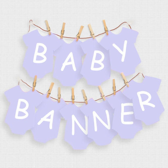 picture about Printable Baby Shower Decorations known as printable kid shower decorations lavender little one one particular piece alphabet banner - quick down load - very first birthday decor child lady pink welcome