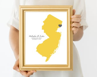 keepsake wedding map ANY LOCATION - printable digital, custom personalised country or state guest book alternative, destination wedding gift