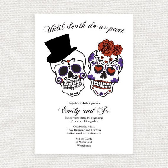 Sugar Skull Party Invites Invitation Templates Free – preinsta.co