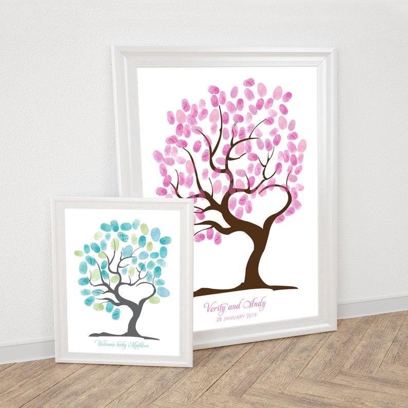 Baum Der Liebe Fingerabdruck Gästebuch Hochzeit Fingerabdruck Etsy
