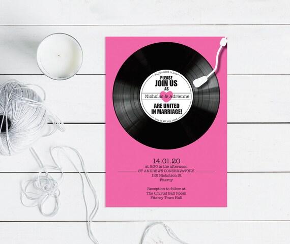Einladung Printable Musik Themed Hochzeit Etsy