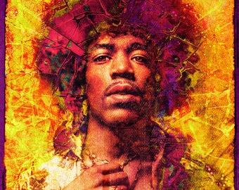 Jimi Hendrix - Limited Edition Print 8.5 x 11