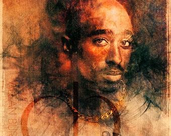 Tupac Shakur - Limited Edition Giclee Print 16 x 20