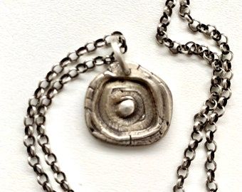 Amulet Series Hand Cast Eye Pendant Sterling Silver Necklace
