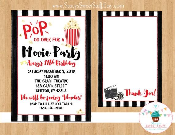 movie birthday invitation movie invite movie birthday movie party