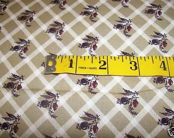 1800S Shades of BROWN With Seed Pods Fabric #170E