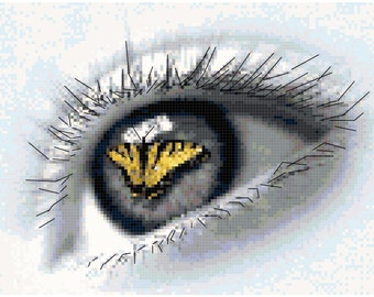 Counted Cross Stitch Original Pattern - Eye of the Beholder