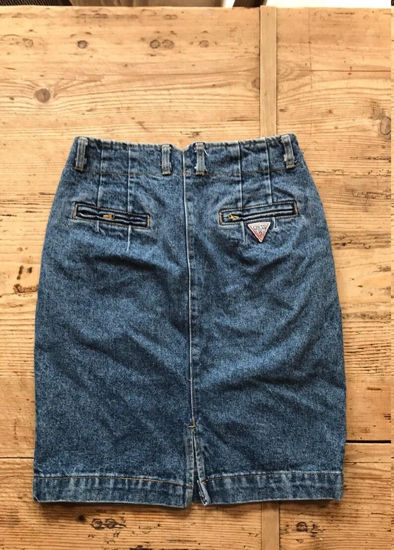 1980\u2019s jean skirt Vintage 1980\u2019s Guess jean skirt vintage Guess jeans high rise jean skirt