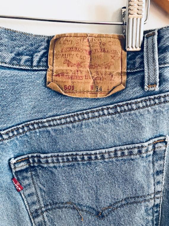 Vintage Levi's 501 jeans, Levi's 501, rare Levi's… - image 6