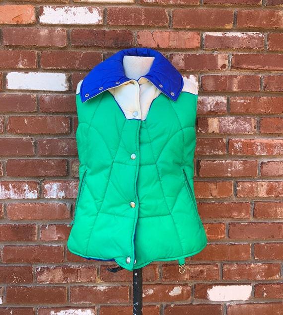 Vintage 1980's SKYR ski vest, 1980's vest, 80's pu