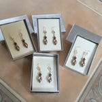 Exclusive Listing for Beth Handmade to Order Swarovski Bronze and Crystal Earrings