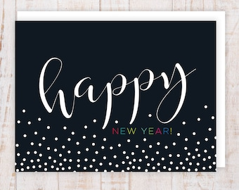 happy new year cards pack of 6 shimmer card stock a2 free shipping