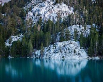 Second Big Pine Lake at Blue Hour, Sierra Nevada - Fine Art Print