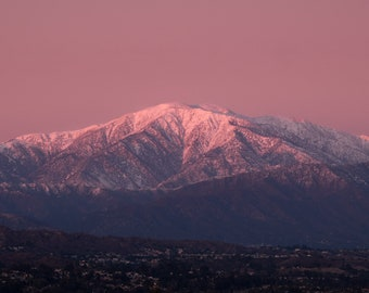 Mount Baldy at Sunset, San Gabriel Mountains - Panoramic Fine Art Print