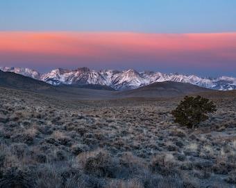 Eastern Sierra Sunrise - Panoramic Fine Art Print