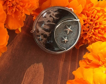 Fossilized Coral Moon Perfect little flower shapes Amulet Sky Star Witchy made to order Ring Necklace Bracelet