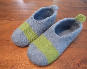 Felt slippers/ shoes, 100% wool, woman size 9
