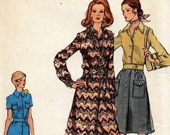 Vintage Vogue 8365 Misses' Shirtdress UNCUT Sewing Pattern Size 16 Bust 38