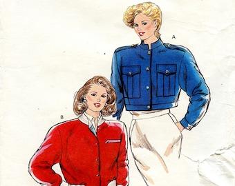 Vintage 80s Kwik Sew 1700 Women's Short Crop Jacket UNCUT Sewing Pattern Sizes XS S M L