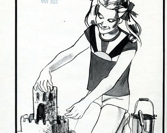 Vintage Stretch & Sew 869 Girls' Sunburst T-Shirt UNCUT Sewing Pattern Sizes S M L