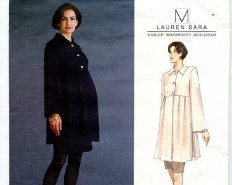 Vintage 90s Vogue Maternity Designer Lauren Sara 1465 Women's Maternity Tunic & Skirt UNCUT Sewing Pattern Sizes 6-8-10 Bust 30.5 31.5 32.5