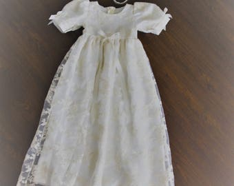 47fe4127a Baptism Gown-Lace Christening gown-Heirloom traditional baptism dress-Royal christening  gown-Dedication-Naming Ceremony -Bautismo-Ivory Gown