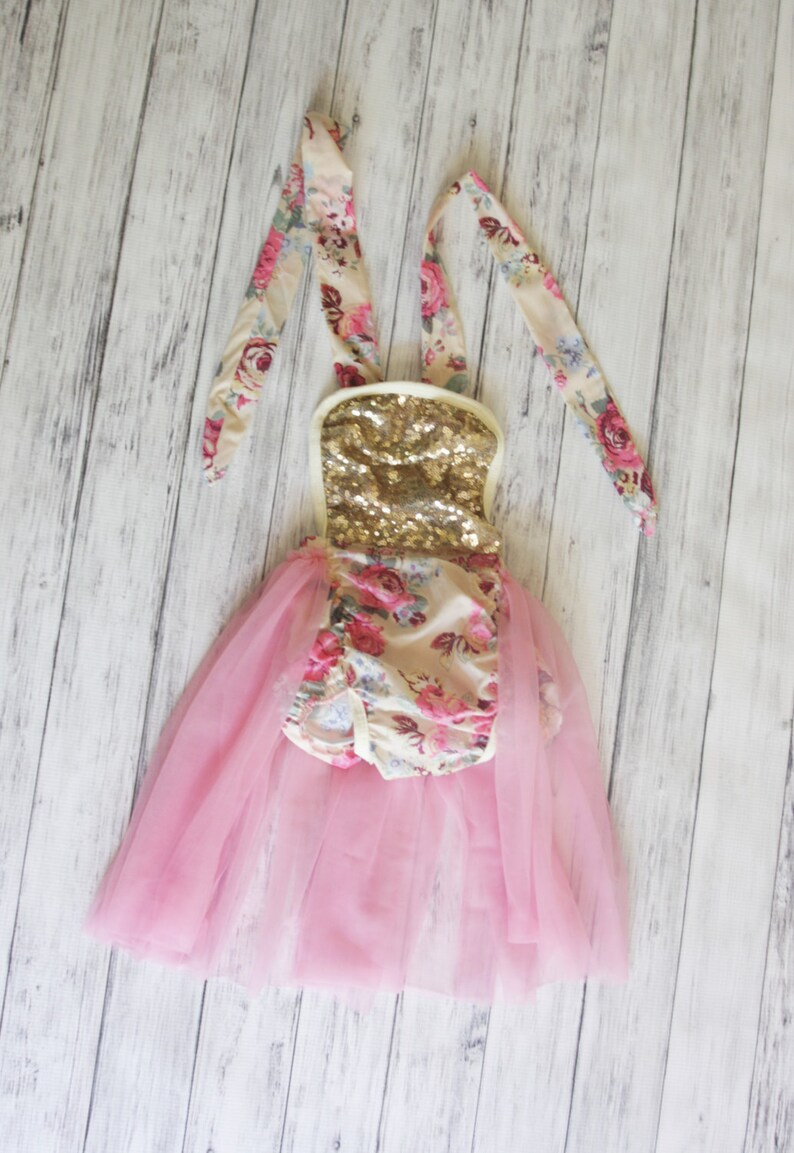 0199739b4207 Floral Bubble Romper with Tulle Skirt Baby Romper Baby