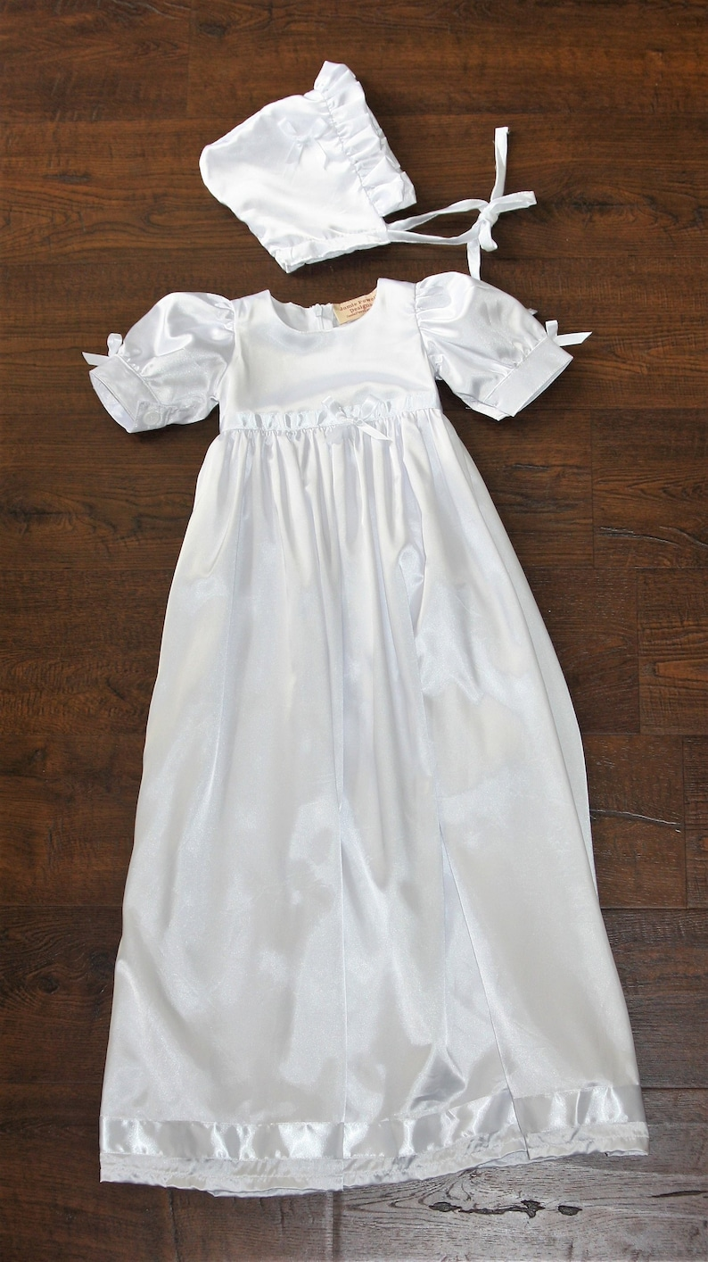 eacea3f088f1 Baptism Gown-White Christening gown-Heirloom traditional | Etsy