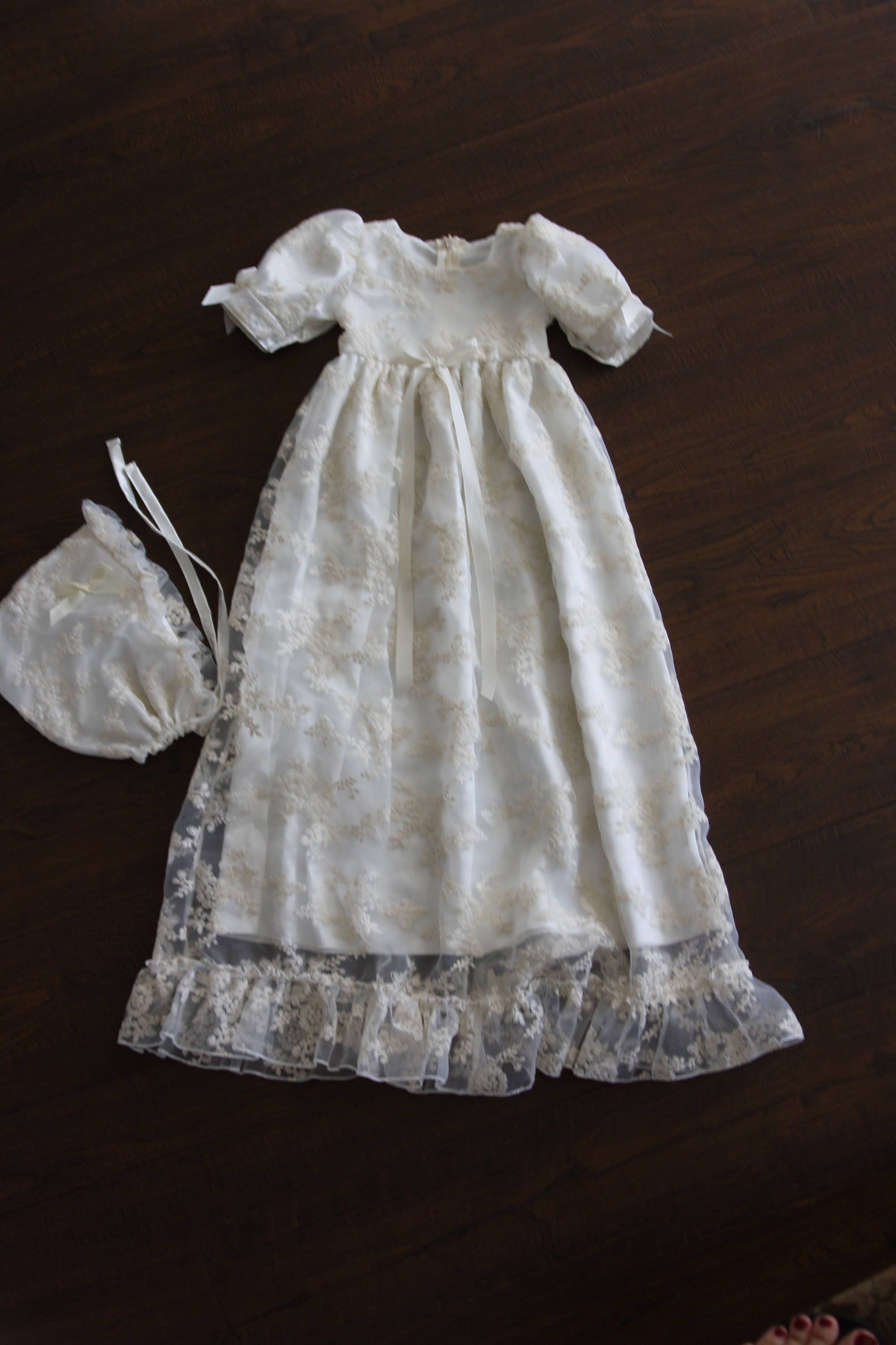 43dfb181f Baptism Gown-Lace Christening gown-Heirloom traditional | Etsy