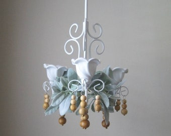 NEW! Alabaster White Farmhouse Chandelier Made-To-Order