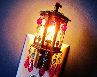 Mini Moroccan Lantern Night Light Golden Mirage MADE TO ORDER