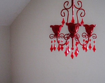 Scream Queens Red Candle Chandelier MADE TO ORDER