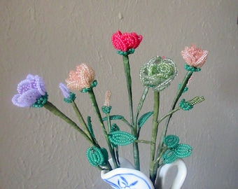 Mini Tea Rose - Dee's French Beaded Flowers