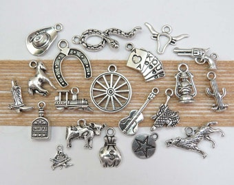 6ed093173 WILD, WILD, WEST Charm Collection, Set of 20 Different Charms, No  Duplicates!