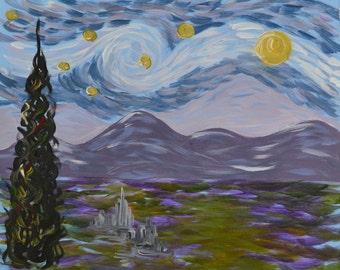 STARRY NIGHT Copy- 16 x 20 Acrylic on canvas