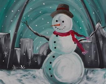 SNOWY ARCH 16 x 20 Acrylic on Canvas