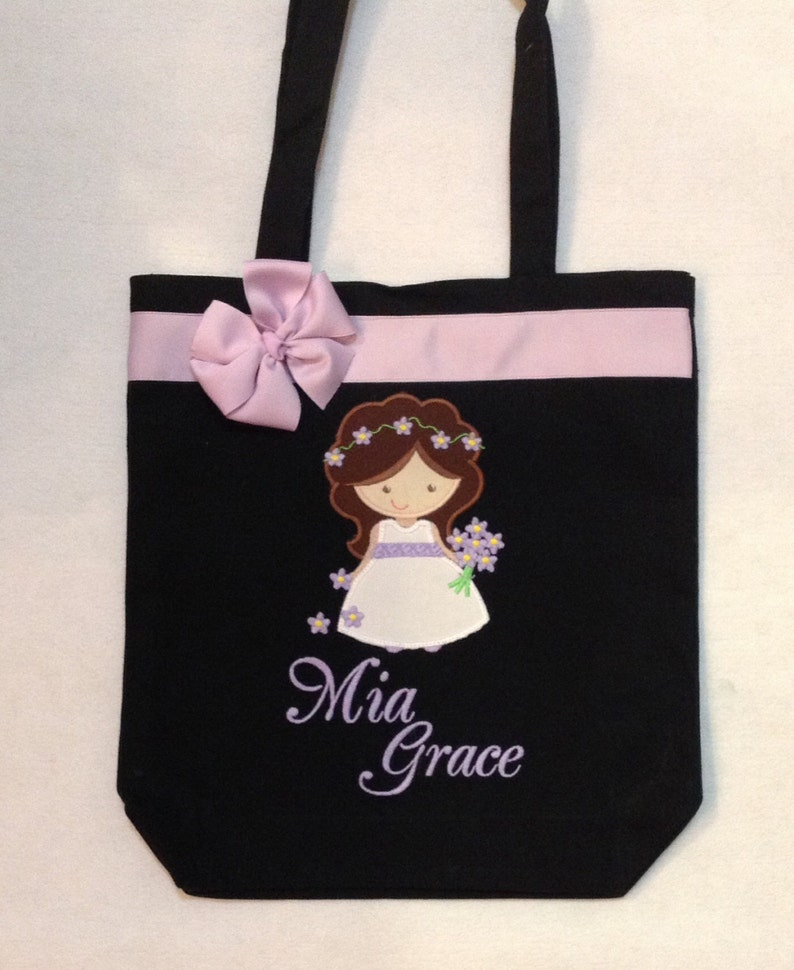 Quiet Bag Personalized Tote Bag Personalized Flower Girl Flower Girl Gift Flower Girl Tote Bag Wedding Tote Personalized Tote