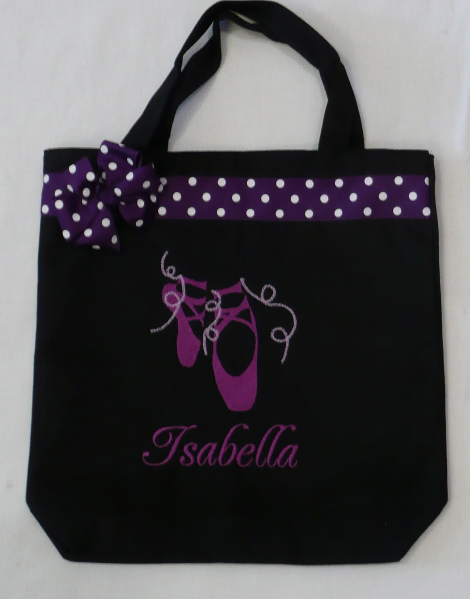 personalized tote bag, personalized tote, dance tote bag, ballerina tote, ballet gift, personalized ballet, personalized slipper