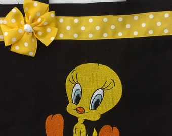 Personalized Tote Bag, Personalized Tote, Tweety Tote Bag, Tweety Tote, Tweety Gift, Personalized Tweety, Yellow Bird