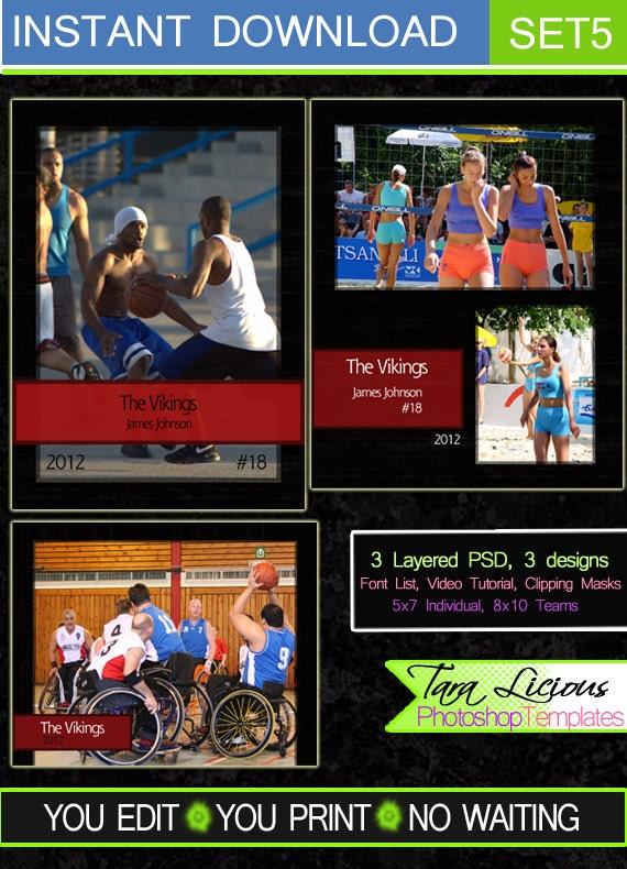 sports templates sports layered photoshop templates sports etsy