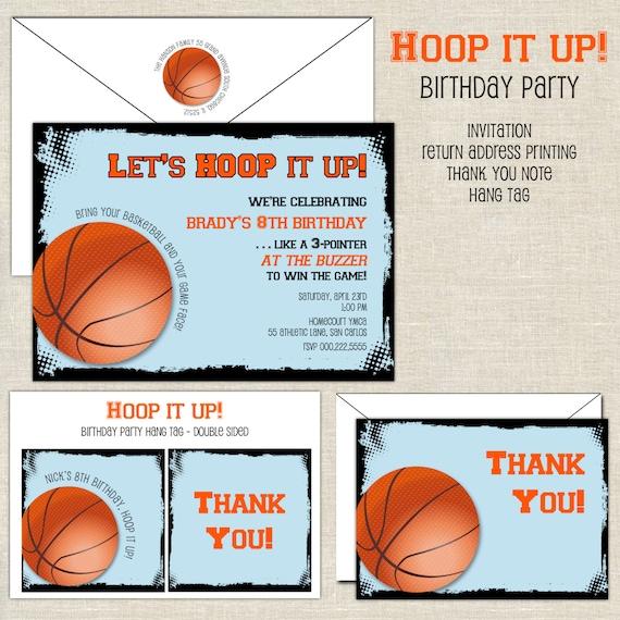 Basketball birthday invitation hoops birthday invite boy birthday il570xn filmwisefo