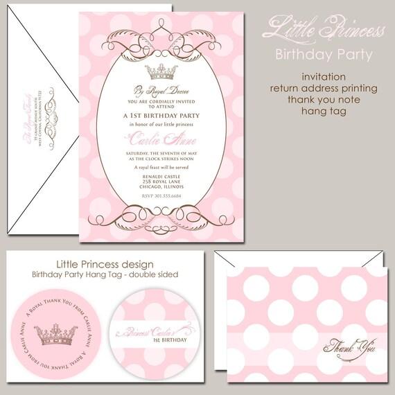 Items Similar To Pink Princess Birthday Invitation, Royal