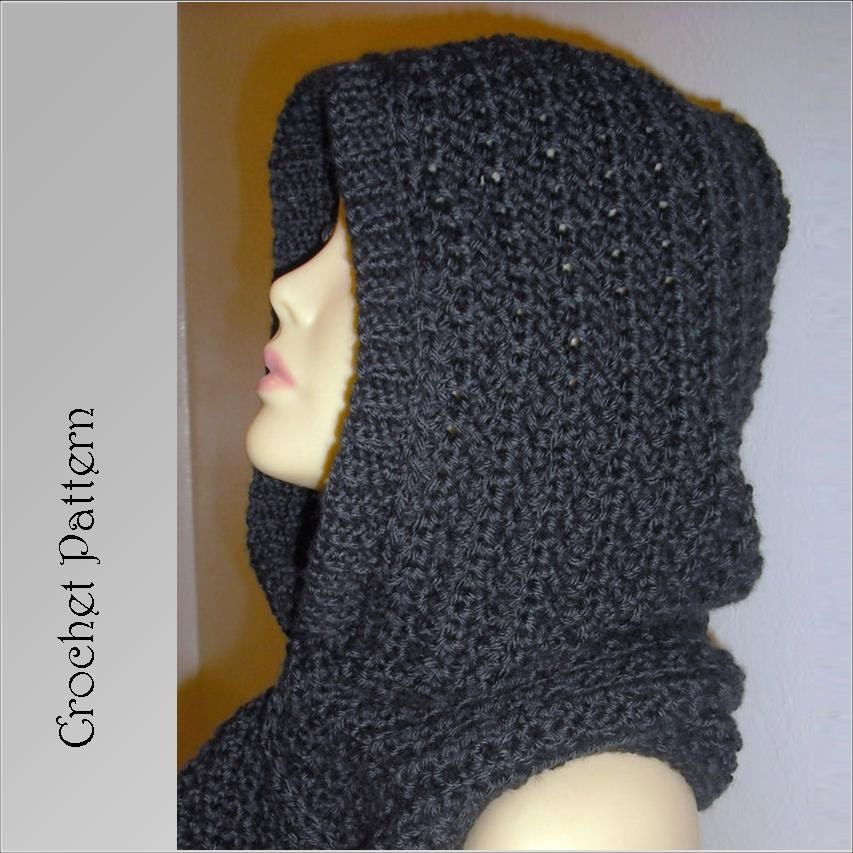 Hooded Scarf Crochet Pattern Automatic Download Etsy