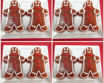 The Gingerbread Man Soap - Bulk Set - Box of 8 Soaps, Fall soap, Christmas Soap, Holiday Soap, Teacher Gifts, Party Favors, Kids Soap