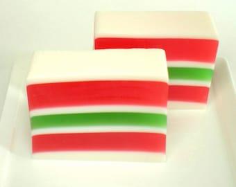 Candy Soap, Holiday Ribbon Soap, Christmas Soap, Rose, Carnations, Holiday Soap, Hostess Gift, Soap for Kids, Glycerin Soap