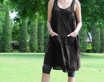 SALE 40% OFF----B035--Cute cotton vest with cute pleats